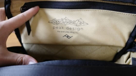 Peak Design「Everyday Sling 5L」レビュー:外観5